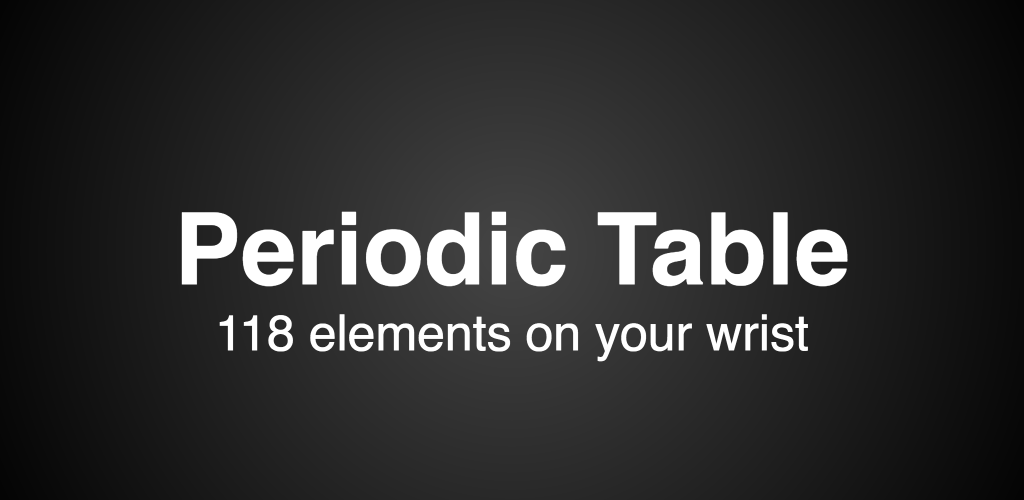Periodic Table Trainer (Android Wear)