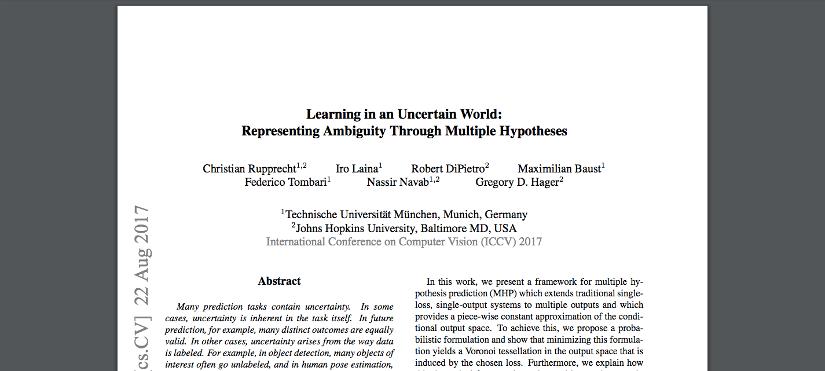 [Paper Recap] Multiple Hypotheses Prediction