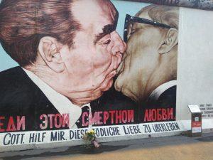 "Wall Segment ""Kissing Men"""